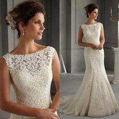 best fabric for winter wedding dress Wedding Dress Over 40, 2nd Wedding Dresses, White Lace Wedding Dress, Lace Mermaid Wedding Dress, White Bridal, Perfect Wedding Dress, Wedding Dress Styles, Bridal Dresses, Wedding Lace