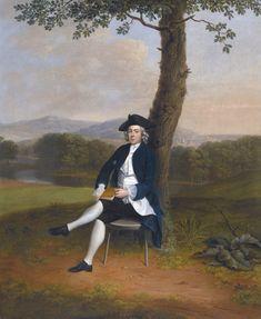 Arthur Devis — Portrait of a Gentleman, Full Length, Seated under a Tree