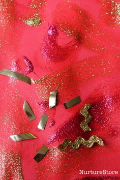Chinese New Year activity :: sensory painting : Chinese New Year activity :: sensory painting - NurtureStore Chinese New Year Crafts For Kids, Chinese New Year Activities, Chinese New Year Party, Chinese New Year Design, New Years Activities, Winter Crafts For Kids, Chinese New Year Traditions, New Years Traditions, New Year's Crafts