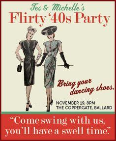 1940s theme party ideas | Crinoline & Tweed: Flirty Forties Birthday Party