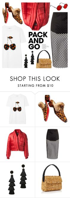 """Pack and Go: Paris Fashion Week"" by teoecar ❤ liked on Polyvore featuring Ganni, Christian Louboutin, Chanel, Boohoo, BaubleBar, Glorinha Paranagua, parisfashionweek and Packandgo"