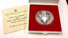 Medaglia celebrativa Milan Campione D' Europa 1989 con scatola originale