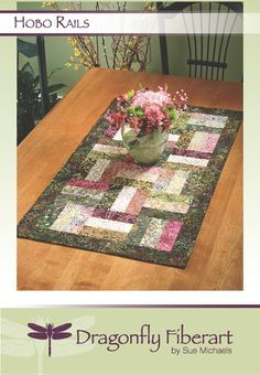 hobo rails quilt pattern | ... com/pattern/quilting/home-decor/hobo-rails-quilted-table-runner/38445