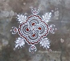 Justnotrangoli - ThilagaSridharan added a new photo. Rangoli Patterns, Rangoli Kolam Designs, Rangoli Designs Images, Rangoli Ideas, Beautiful Rangoli Designs, Indian Rangoli, Diwali Rangoli, Alpona Design, Free Hand Rangoli