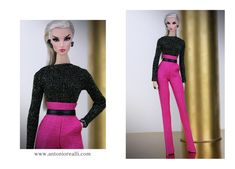 Antonio Realli couture. Hi Fashion, Fashion Dolls, Mini Craft, Barbie World, Barbie Clothes, New Outfits, Two Piece Skirt Set, Dresses For Work, Couture