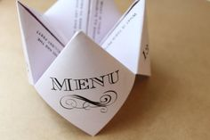 Unique Custom Wedding Cootie Catcher Designs by DarlingGirlPaper Tie The Knot Wedding, Origami Envelope, Tropical Bridal Showers, Bridezilla, Menu Cards, Wedding Planning Tips, Tie The Knots, How To Introduce Yourself, Catcher