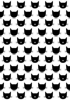 Motif de tête de chats de Audrey Jeanne