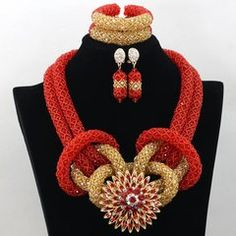 Latest 2 Layers African Nigerian Wedding Party Crystal Beads Bridal Jewelry Set