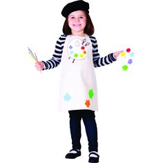 She will be one Talented Artist. Costume is available in sizes: Toddler 4, Small, Medium and Large.