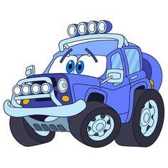 Transporte de vehículos de dibujos animados. De alta velocidad fuera de  carretera de coches d58f6717f25