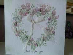 Rose Heart Valentine Card £1.50