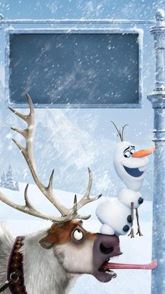 Olaf and Sven Phone Wallpaper