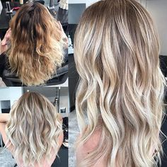 Before and after from my previous post @hairandharlow #hairbykaitlinjade