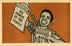 The Black Panther Party is often associated with armed resistance, but one of the most potent weapons in its outreach was its artwork.