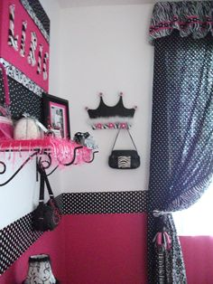 No princess room would be complete without a crown! Again, painted to match and added bling & fur.