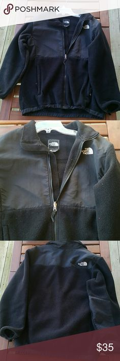 Black North Face Jacket Very well loved north face jacket. Still adorable and can go with so many outfits All zippers in complete working condition. Just so pill on sleeves, could be easily removed. Jacket is a girls XL but will fit S. North Face Jackets & Coats