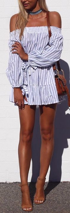 off-the-shoulder shirt-dress / interview outfit idea