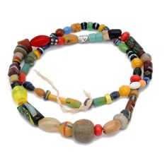 Africa | Necklace from Cotonou, Benin. Old glass and plastic beads from the 19th century African Animals, African Safari, African Prints, African Fabric, African Style, African Fashion, Africa Necklace, British Colonial Style, Beaded Bracelets