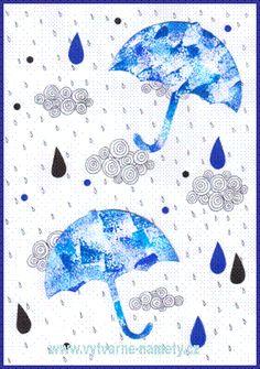 Deštníky, deštivé počasí, kapky vody Diy For Kids, Diy And Crafts, Mandala, Techno, Artwork, Origami, November, Inspiration, Inspired