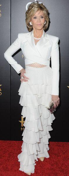 Jane Fonda Pulled Off Doutzen Kroes's Sexy Balmain Runway Look Like a Total Boss