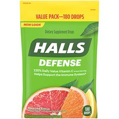 Halls Defense Vitamin C Tropfen - Orange, Zitrone & Grapefruit - - Products Vitamin C, Health And Beauty, Health And Wellness, Health Care, Flavor Drops, Sooth Sore Throat, Orange, Antioxidant Vitamins, Beta Carotene