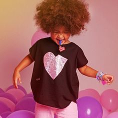 "Amor minimi! poncho mini ushuva ... aplque ""Un pedacito de mi corazón"" light pink .... Modelo: Mia"