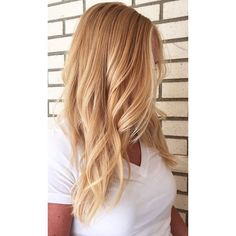 Natural strawberry blonde base with #hairpainting to create buttery blonde…