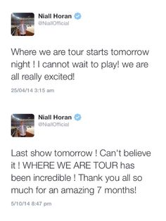 "IM CRYING..but can't wait for the next tour... IM GOING!!!!! OTRA!!! I will finally be able to say ""at my concert..."" It makes me soooo happy!!"