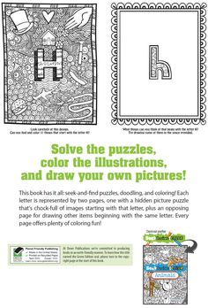 Welcome to Dover Publications Seek, Sketch, and Color- Alphabet