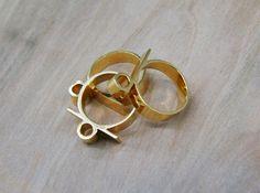 Triple Tube Ring (gold)