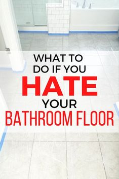 This project isn't just for floors. Any tile works: backsplashes, fireplaces, shower walls, laundry room, etc! Have more ideas? Cheap Bathroom Makeover, Bathroom Makeovers, Old Washing Machine, Closet Renovation, Simple Bathroom, Bathroom Ideas, Design Bathroom, Vintage Tub, Cutting Edge Stencils
