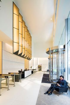 Image result for double height circle lobby