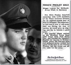 Elvis Sails: Brooklyn army Terminal September 22, 1958