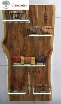 Wood vitrine walnut +bag wood.
