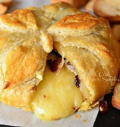 Cranberry Maple Baked Brie - My Honeys Place
