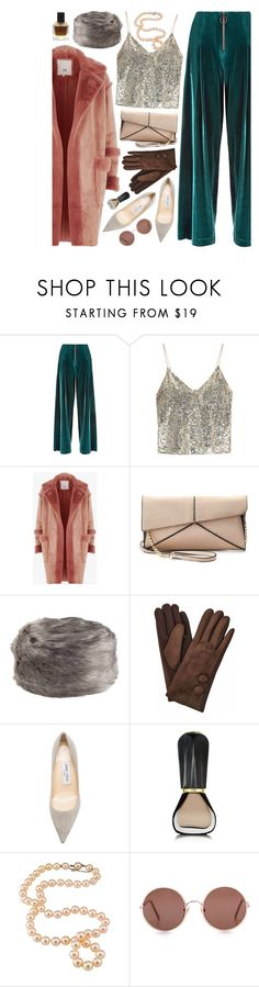"""""""Velvet & Fur"""" by ladomna ❤ liked on Polyvore featuring Sweaty Betty, Alice + Olivia, River Island, Mellow World, Jimmy Choo, Oribe and Sunday Somewhere"""