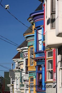 Victorian houses in Haight-Ashbury, San Francisco