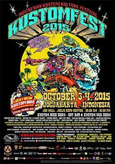 Indonesia Kustom Kulture Festival 2015 #kustomkulture #hotrod #kustombike #mooneyes #indonesia