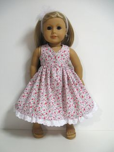 American Girl Doll Clothes Spring Floral  by 123MULBERRYSTREET, $22.00