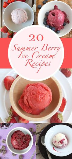 20 Summer Berry Ice Cream Recipes - strawberries, blueberries, raspberries, blackberries, oh my! Try these recipes to add summer to your scoops.