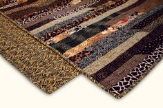 Animal Print Lap Strip Quilt