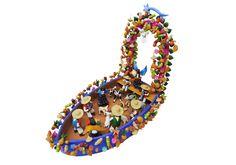 Clay Nativity on a Boat