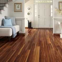 In love with this hardwood floor. You won't be able to choose between dark or light woods!