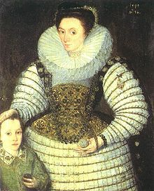 Robert Devereux as a child with his mother Frances Walsingham, countess of Essex by Robert Peake the elder, 1594