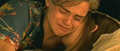 "#gif_of_leo Leonardo DiCaprio While young as Romeo Montague in Romeo + Juliet"" (1996)"