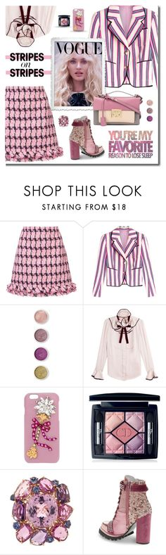 """""""Stripes on Stripes"""" by neverboring ❤ liked on Polyvore featuring Boutique Moschino, Olympia Le-Tan, Terre Mère, Roksanda, Dolce&Gabbana, Christian Dior, Jeffrey Campbell, Salvatore Ferragamo, stripesonstripes and PatternChallenge"""