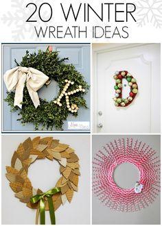 20 DIY Winter wreath ideas - C.R.A.F.T.