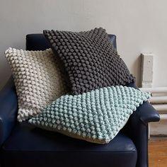 Bubble Knit Pillow Cover - Pale Harbor | West Elm