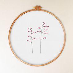 Prairie Flower cross stitch pattern, modern cross stitch pattern, natural cross…