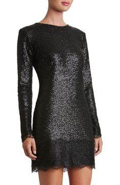 Dress the Population Kate Lace Trim Sequin Dress available at #Nordstrom